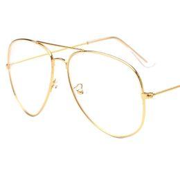 Wholesale Glass Optics - 2017 Brand Clear Glasses Women Classic Optics Glasses Aviation Alloy Frame Transparent Lens Glasses Men Sunglasses Female Oculos
