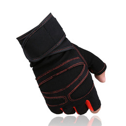 Wholesale Men Dumbbell - Sports Gym Gloves Half Finger Breathable Weightlifting Fitness Gloves Dumbbell Men Women Weight lifting Gym Gloves