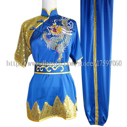 Wholesale Yellow Martial Arts Uniform - Embroidery Chinese wushu uniform Kungfu clothing taolu garment Martial arts outfit Routine costume for boy girl men women children girl kids