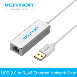 tv rj45 Promotion Vention USB 2.0 vers RJ45 LAN Carte réseau Ethernet pour Mac OS Android Tablet PC Portable Smart TV Win 7 8 XP à 10 / 100Mbps