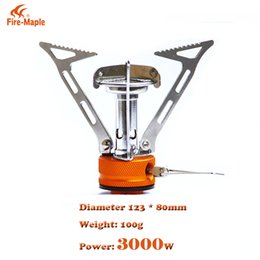 Wholesale Fire Maple - Fire Maple FMS-103 Mini Folding Gas Stove Outdoor Compact Heat Exchanger Pot Camping High Altitude Mountaineering Burner Stove