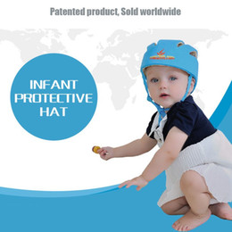 Wholesale Safety Children Helmet - Baby Toddler Safety Helmet Infant Protection Cap Children Helmet Child Kids Adjustable Hat Walk Learning Head Protector Gift