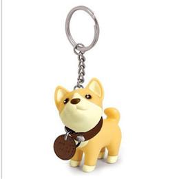 Wholesale Doggy Cute - Creative Pet Dog Gift Cute Keychain Husky,Akita,bull terrier Model Doggy Bag Phone Key Ring Fashion Christmas gifts for Women Girls,kids