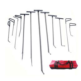 Wholesale Tools Bag Kit - PDR Tools Push Rods Hooks Car Crowbar Dent Removal Paintless Dent Repair Tools Set PDR Kit Ferramentas+ Tool Bag