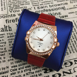 Wholesale Lady Small Watch - Luxury lady watch Genuine Leather Popular Colorful Women Wristwatches Beauty female clock free shipping Small Eyes Crystal Student Luminous