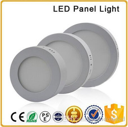 Discount led side smd - LED Surface Mounted panel light 6W 12W 18W AC85-265V LED round smd 2835 side downlight with aluminum and acrylic light guide plate
