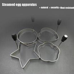 Wholesale Egg Shape Fried - Stainless Steel Frying Eggs Fried Egg Apparatus Model Die Mold Love Shape Poached Egg Omelette Artifact DIY