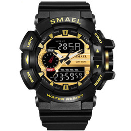 Wholesale Military Diving Watches - Sport Watch Men Digital LED Watch 50M Waterproof Dive Watches Military Men Wristwatch relogios masculino montre homme drop shipping