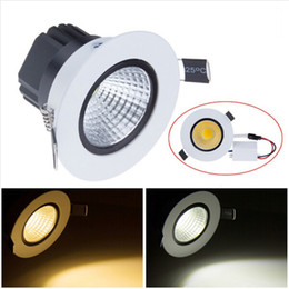 Wholesale Cob Led Spot 3w - High Bright led downlight COB Ceiling Spot Lights 3W 5W 7W 10W 12W 15W 20W LED ceiling Recessed lamp Indoor Lighting