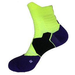 Wholesale Elite Fit - new style high quality dry-fit elite mans cushion sole basketball socks