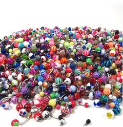 Wholesale Assorted Gemstone Rings - Assorted Lot of 500pcs Banana Piercing 14G Belly Button Rings Piercing Jewelry