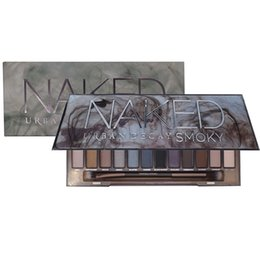 Wholesale Make Up Shimmering Eye Shadow - Makeup Naked Eyeshadow Palette 12 Colors Smoky Cosmetic Set Professional Natural Matte Eye Shadow Palette Make Up Glitter