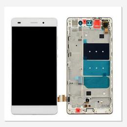 Huawei p8 numériseur en Ligne-Pour Huawei Ascend P8 Lite Nouveau Nouveau LCD Écran Tactile Digitizer Avec Cadre Livraison Gratuite