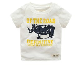 Wholesale T Shirt Fashion Tiger Girl - Hot selling Kids FashionT-shirt Graphic Tees Summer Tiger Printed Boys T-Shirt Children 100% Cotton Short Sleeved Girls Tops Cotton