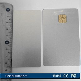 Chip card online-Venta al por mayor 100PCS / Lot PVC en blanco tarjeta de la astilla SLE4428 Contacto ISO7816 chip grande SmartCard para el control de acceso con el envío gratis