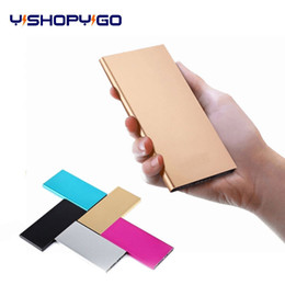 Wholesale Usb Customized - Customized logo Ultra-thin Polymer battery USB Power Bank 20000mah Portable Rechargeable External Battery Charger