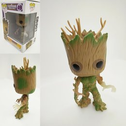 Wholesale Glow Dark Galaxy - Movies Guardians of the Galaxy Groot Exclusive Glow in the Dark PVC Action Figure Collection Model Kids Toy