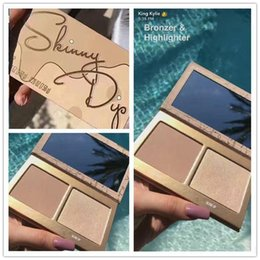 Wholesale Hot Bronzer - HOT Kylie vacation Cosmetics Skinny Dip Face Duo Highlighters Skinny Dip Highlighters 2color Face Powder Bronzer Highlighters Powder Palette