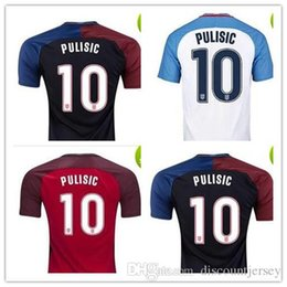 Wholesale Cheap National Team Soccer Jerseys - Wholesale 17-18 Pulisic #10 National Team Red Soccer Jersey,2018 World Cup Jersey,Customized Soccer Top Thai Quality,Cheap Soccer Jerseys Di