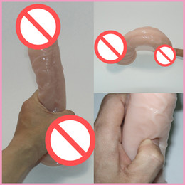 Wholesale Cock Masturbation - Realistic Penis Super Huge Big Dildo With Suction Cup Sex Toys for Woman Sex Products Female Masturbation Cock