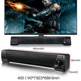 Wholesale Wholesale Button Control - LP-09 Bluetooth Speaker TV Sound Bar 4.0 Channel Bluetooth with Remote Control Speaker USB Stereo Speaker 3.5mm Aux TF Card MIS152