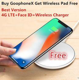 Wholesale Unlocked Cdma Smart Phone - Goophone X Wireless Charger Face ID 4G LTE Octa Core 256GB ROM MTK6735 12 MP Dual Camera Cell phone Unlocked Smartphone