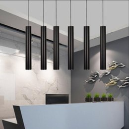 Wholesale Island Decoration - led Pendant lights Lamp Kitchen Island Dining Living Room Shop Decoration, Cylinder Pipe Office cylinder straight circular lamp of droplight