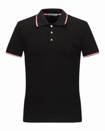 Wholesale British Clothing Brands - M1522 Luxury Mens Mon polo Brand British t shirt Summer short sleeve tshirt marque luxe homme Franch men Costume Clothing m-xxl size