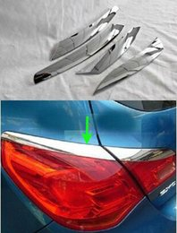 Wholesale Chrome Door Molding - Chrome Rear Lamp Eyelid Tail Molding Lid Eyebrow Cover Trim External For BUICK EXCELLE XT 2012-2014 OPEL ASTRA J Styling