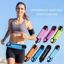 Wholesale Running Pouch Iphone - For Samsung S6 7 Edge S8 Plus Iphone 6 7 Plus Running Jogging Sport Waist Band Belt Pouch Bag Mobile Phone Case Cover