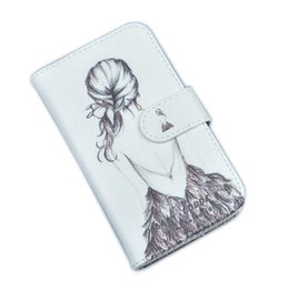 Wholesale Branded Pop Phone - Phone Case For Alcatel POP 4 Plus Cover High Quality PU Leather Flip Card Holder 5.5 inch Wallet Cases For Alcatel POP 4 Plus