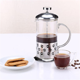 Wholesale Heat Filter Glass - 350ML 600ML Stainless Steel French Presses Cafetiere Insulated Coffee Tea Maker With Filter Double Wall Coffee Kettle Pot Silver