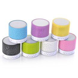 Wholesale Mp3 Player Flash Reader - Mini Speaker Bluetooth Speakers LED Colored Flash A9 Handsfree Wireless Stereo Speaker FM Radio TF Card USB For iPhone Mobile Phone Computer