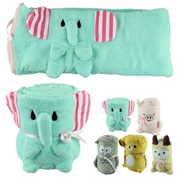 Wholesale Hot Selling Bedding - Hot Selling Lovely Cartoon Animal Coral Fleece Baby Blanket Soft Bedding Infant Quilt Children Home Sleeping Bag Kid Toddler Swaddling