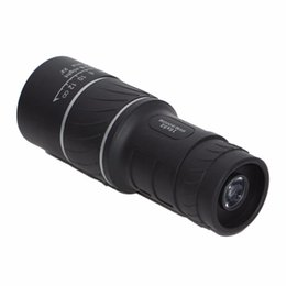 Wholesale Wide Angle Scope - 10pcs 16X52 HD Spotting scope Telescope Monocular Telescope Caliber For Sport Camping wide angle low light night vision Best Price