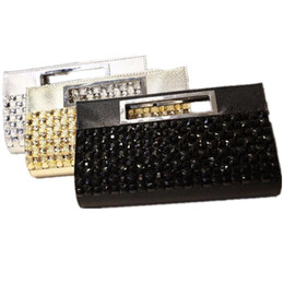 Wholesale Wave Handbag - Wholesale- 2017 new handbag with diamond fashion wave female dinner diamond rhinestone snakeskin pattern shoulder handbags clutch shine bag