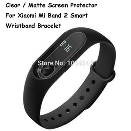 Wholesale Film Cleaning Cloth - Wholesale-New HD Clear   Anti-Glare Matte Screen Protector For Xiaomi Mi Band 2 Smart Wristband Bracelet Film Guard With Cleaning Cloth