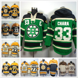 Wholesale rays hoodie - Boston Bruins hoodies 33 MARCHAND 77 Ray Bourque Ice Hockey Hoody Sweatshirts Green beige black