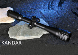 Wholesale Mil Dot Reticle Riflescope - 2017 Free shipping Tactical Optical Sight Gold Edition KANDAR 3-9x40 AOME Glass Mil-dot Reticle Locking RifleScope Hunting Rifle Scope