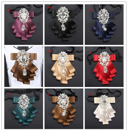 Wholesale Gold Bow Ties For Men - Bow ties 2017 for Wedding Party Dress up men bowties Women Neckwear highlights Polyester Yarn double ribbon for bridegroom D091