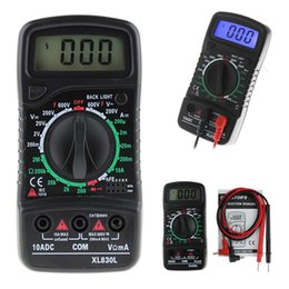 Wholesale Voltmeter Lcd - XL-830L LCD Digital Multimeter Voltmeter Ammeter AC DC OHM Volt Current Tester