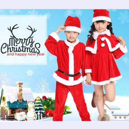Wholesale Western Style For Boys - Party Costume Cosplay Christmas Outfits Western Christmas Children's Clothing For Boys And Girls Santa Claus Cute Red Costume For The Show