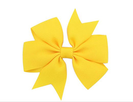 Wholesale Hair Pin Bag - baby ribbons hair pin hair accessory barrettes children fashion flower decorating clips with bow minimum qty 200pcs color mixed 40colors bag