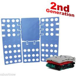 Wholesale Shirt Folding - Clothes T-Shirt Top Folder Magic Folding Board Flip Fold Adult Laundry Organizer