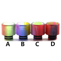 Wholesale Top Ecig Tanks - Top Epoxy Resin SS Drip tips Wide Bore 510 thread Mouthpiece for Smok TFV8 Baby Tank atomizer ecig Mod RDA
