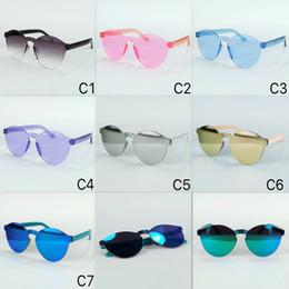 Wholesale sun goggles for children - Kids Sunglasses Cool Shield Goggles Fashion Sun Eyewear Plant Lenses Rimless Mirror Lenses Sun Glasses For Girls And Boy Free Ship