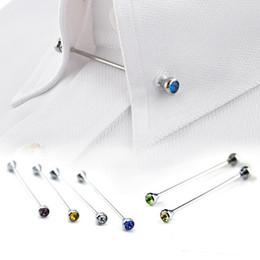 7bb82afc9d90 Venda al por mayor la camisa de plata del Pin de Lapen del palillo del lazo  de la broche de la barra del Pin del collar de la camisa de los hombres ...