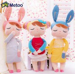 Wholesale Dresses For Big Figure - Plush Stuffed brinquedo menina Lovely Cartoon Baby Kids Toys for Girls Birthday Christmas Gift Animals Dream Angela Rabbit Girl Metoo Doll