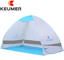 Wholesale Two Person Beach Tent - Wholesale- KEUMER 1-2 persons UV Protection Quick Automatic Opening Beach Tent Protable Ultraviolet-proof summer beach tent