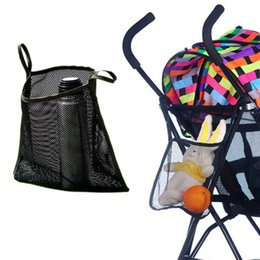 Wholesale Car Umbrella Storage - Wholesale- Creative Baby Stroller Pram Hook Bag Pram Stroller Hanging Bags Mesh Storage Umbrella Cars Stroller Accessories
